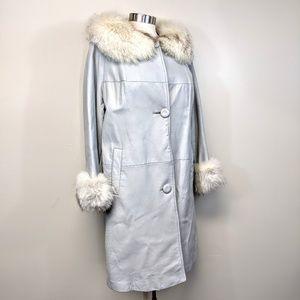 Vintage 60's Fox Fur & Leather Coat
